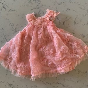 Sweet Pink Dress, no size on tag, 3-6 months